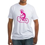 Kokopelli Mountain Biker Fitted T-Shirt