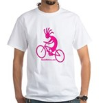 Kokopelli Mountain Biker White T-Shirt