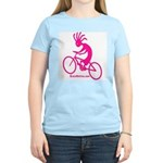 Kokopelli Mountain Biker Women's Pink T-Shirt