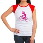Kokopelli Mountain Biker Women's Cap Sleeve T-Shir