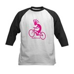 Kokopelli Mountain Biker Kids Baseball Jersey