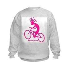 Kokopelli Mountain Biker Kids Sweatshirt
