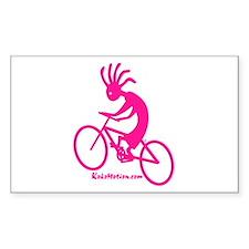 Kokopelli Mountain Biker Rectangle Sticker