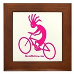 Kokopelli Mountain Biker Framed Tile