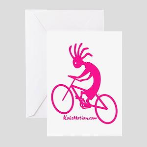 Kokopelli Mountain Biker Greeting Cards (Package o
