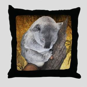 Napping Koala Bear Throw Pillow