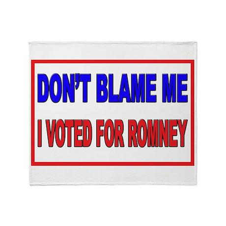 Don't Blame Me Anti Obama Throw Blanket
