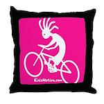 Kokopelli Mountain Biker Throw Pillow