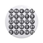 numbers game 1 Ornament (Round)