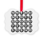 numbers game 1 Picture Ornament