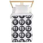 numbers game 1 Twin Duvet