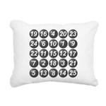 numbers game 1 Rectangular Canvas Pillow