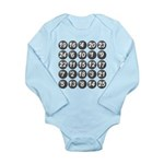 numbers game 1 Long Sleeve Infant Bodysuit
