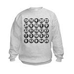 numbers game 1 Kids Sweatshirt