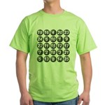 numbers game 1 Green T-Shirt