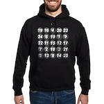 numbers game 1 Hoodie (dark)