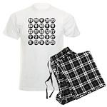 numbers game 1 Men's Light Pajamas