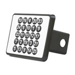 numbers game 1 Rectangular Hitch Cover