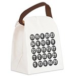 numbers game 1 Canvas Lunch Bag