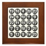 numbers game 1 Framed Tile