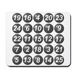 numbers game 1 Mousepad