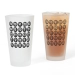 numbers game 1 Drinking Glass