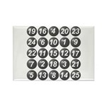 numbers game 1 Rectangle Magnet