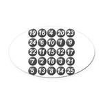 numbers game 1 Oval Car Magnet