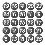 numbers game 1 Square Car Magnet 3