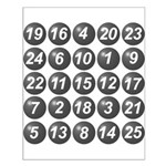 numbers game 1 Small Poster