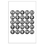 numbers game 1 Large Poster
