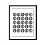 numbers game 1 Framed Panel Print