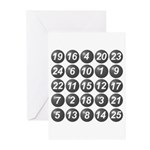 numbers game 1 Greeting Cards (Pk of 10)