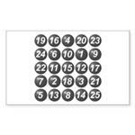 numbers game 1 Sticker (Rectangle)