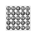 numbers game 1 Square Sticker 3