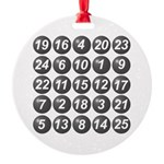 numbers game 1 Round Ornament