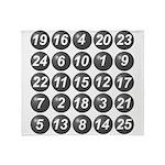 numbers game 1 Throw Blanket