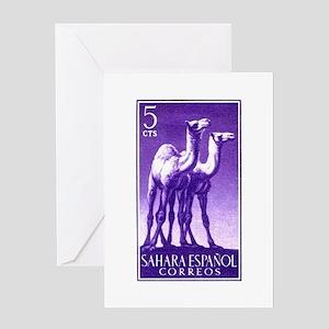 1957 Spanish Sahara Camel Postage Stamp Greeting C