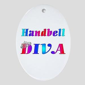 Handbell Diva Oval Ornament