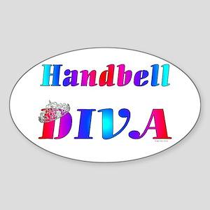 Handbell Diva Oval Sticker