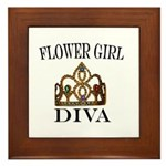 FLOWER GIRL DIVA Framed Tile