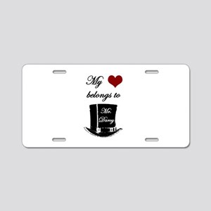 Mr. Darcy Heart Aluminum License Plate