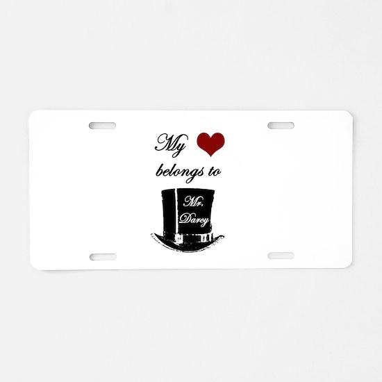 Mr. Darcy Heart Aluminum License Plate
