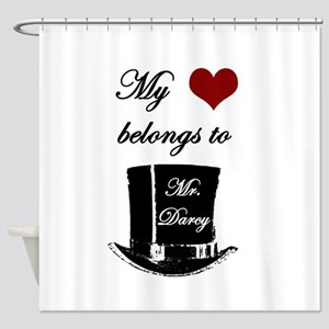 Mr. Darcy Heart Shower Curtain