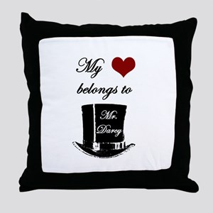 Mr. Darcy Heart Throw Pillow