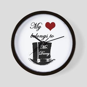 Mr. Darcy Heart Wall Clock