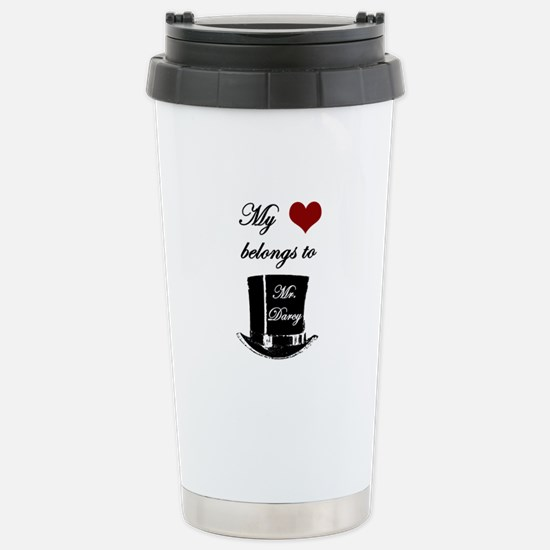 Mr. Darcy Heart Stainless Steel Travel Mug