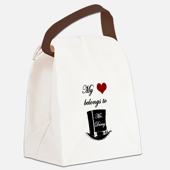 Mr. Darcy Heart Canvas Lunch Bag