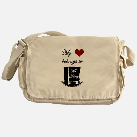 Mr. Darcy Heart Messenger Bag
