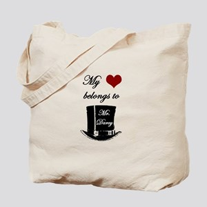 Mr. Darcy Heart Tote Bag
